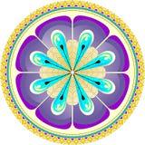 Ronde mandala met bloemblaadjes Stock Foto