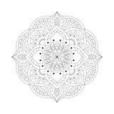 Ronde mandalas in vector Grafisch malplaatje voor uw ontwerp Decoratief retro ornament Hand getrokken achtergrond met bloemen Royalty-vrije Stock Foto