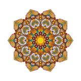 Ronde mandalas in vector Het abstracte Element van het Ontwerp Decoratief retro ornament Grafisch malplaatje voor uw ontwerp Royalty-vrije Stock Fotografie