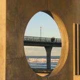 Ronde mening van concrete pijler. Stock Foto