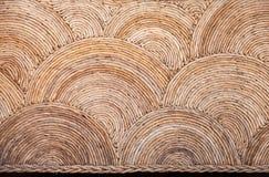 Ronde natuurlijke rieten ornamentachtergrond Stock Foto
