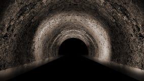 Ronde ondergrondse tunnel, hol, mijn Verlichting door neonlicht stock illustratie