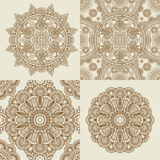 Ronde Ornamentpatronen royalty-vrije illustratie