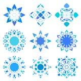Ronde Ornamentreeks Royalty-vrije Stock Afbeeldingen