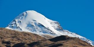 Ronde piek in Himalayagebergte/Nepal stock foto's