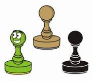 Ronde rubberzegel royalty-vrije illustratie