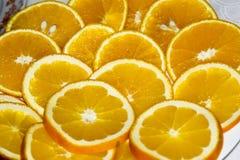 Ronde segmenten van een sinaasappel Royalty-vrije Stock Foto