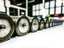 Ronde staalstaven royalty-vrije stock foto
