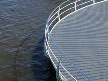 Ronde stoep boven de rivier Zaan stock afbeeldingen