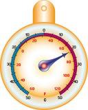 Ronde thermometer Royalty-vrije Stock Fotografie