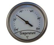 Ronde thermometer Royalty-vrije Stock Foto's