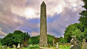 Ronde Toren in Glendalough Stock Foto
