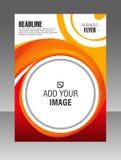 ronde van de bedrijfs vormlay-out brochure Lay-outvlieger, vectormalplaatje Stock Afbeelding