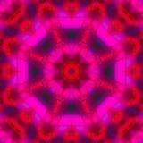 Ronde van de Mandala de grafische symmetrie, oosters behang helder mozaïek, stock illustratie