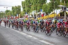 Ronde van Frankrijk 2017 champs-Elysees stock fotografie