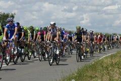 Ronde van Frankrijk 2014 in Duxford Royalty-vrije Stock Afbeeldingen