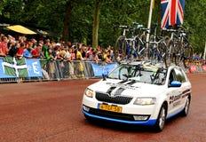 Ronde van Frankrijk in Londen, het UK Royalty-vrije Stock Fotografie