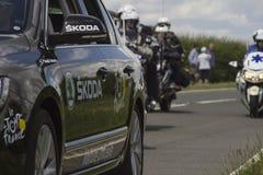 Ronde van Frankrijk 2014 Team Skoka Car Royalty-vrije Stock Foto