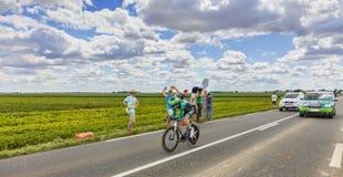 Ronde van Frankrijkactie Stock Afbeeldingen