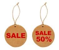 Ronde verkoopmarkeringen Royalty-vrije Stock Afbeeldingen