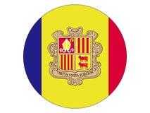 Ronde Vlag van Andorra royalty-vrije illustratie