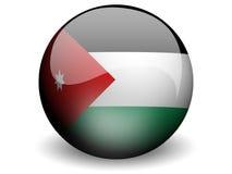 Ronde Vlag van Jordanië Stock Foto