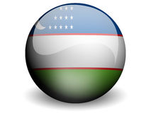 Ronde Vlag van Oezbekistan Royalty-vrije Stock Afbeelding