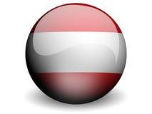 Ronde Vlag van Oostenrijk vector illustratie