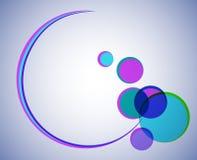 Ronde vorm met gekleurde cirkels Royalty-vrije Stock Fotografie