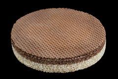 Ronde wafeltje lege cake royalty-vrije stock afbeelding