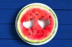 Ronde watermeloenplak Royalty-vrije Stock Foto