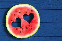 Ronde watermeloenplak Stock Afbeelding