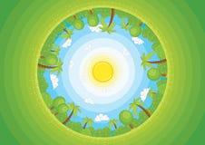 Ronde wereld II vectorillustratie royalty-vrije illustratie