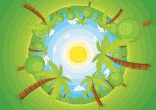Ronde wereld vectorillustratie stock illustratie