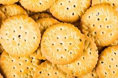 Ronde zoete koekjes met papaverzaden Achtergrond Stock Fotografie