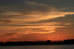Rondeau Bay Park Sunset Royalty Free Stock Images