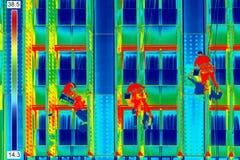 Rondelle di finestra di immagine infrarossa Fotografie Stock