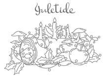 Rondin de Noël, illustration de vecteur d'ensemble illustration libre de droits