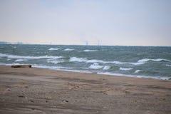 Rondin donnant sur le lac Michigan Images libres de droits
