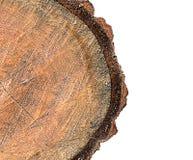 Rondin en bois un demi isolat Images stock