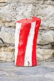 Rondin rouge et blanc Image stock