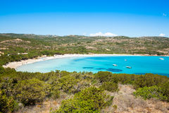 Rondinara beach in Corsica Island, France Royalty Free Stock Images
