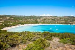 Rondinara plaża w Corsica wyspie, Francja Obrazy Royalty Free