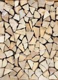 Rondins créant un fond en bois Images libres de droits