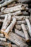 Rondins de bois de chauffage pour la combustion photo libre de droits