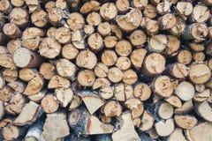 Rondins de bois de chauffage Image libre de droits