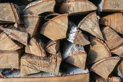 Rondins de bois de chauffage Photographie stock libre de droits