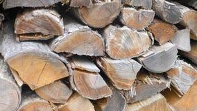 Rondins de bois de chauffage Photo libre de droits