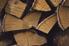 Rondins de bois de chauffage de bouleau Photo stock
