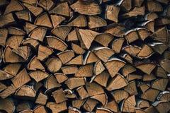 Rondins de bois de chauffage de bouleau Images libres de droits